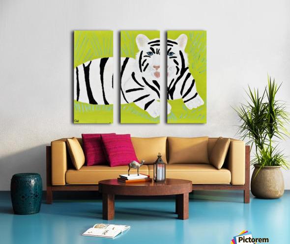 Jungle Warrior.Erin R. Split Canvas print