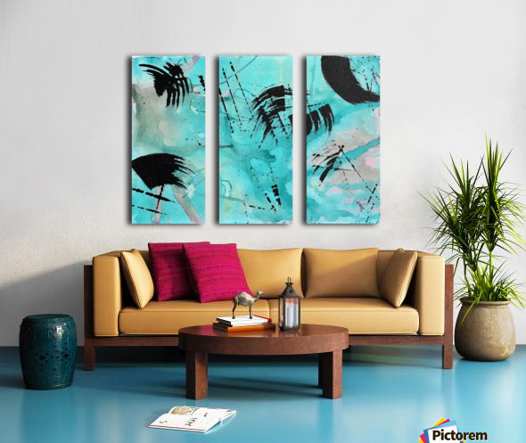 Abstract Watercolor. Geoffory E Split Canvas print