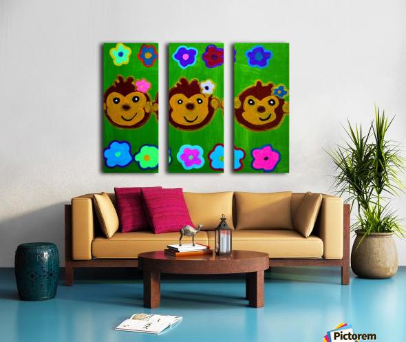 Chain of Monkey.Ali H Split Canvas print