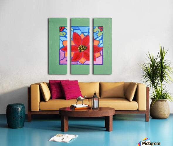 Poinsettia. Thomas L Split Canvas print