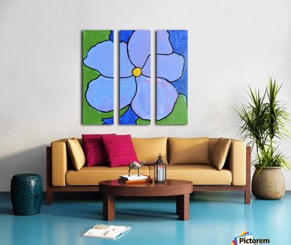 Purple Flower. Jessica A Split Canvas print