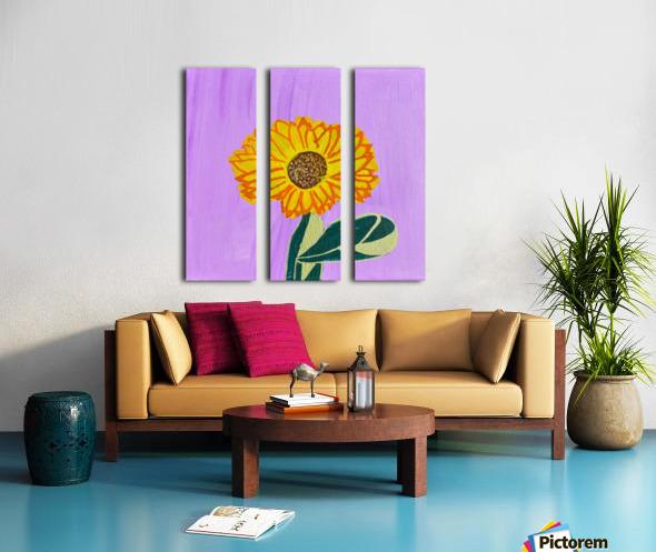 Sunflower. Annie F. Split Canvas print