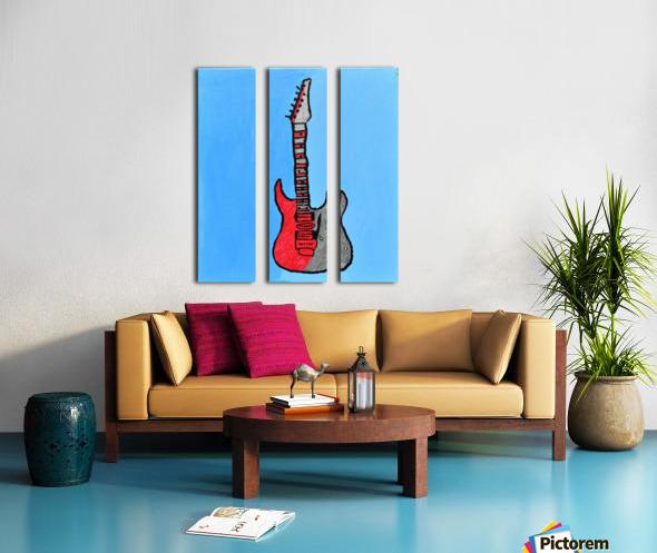 Rock N Roll. Glenn N. Split Canvas print