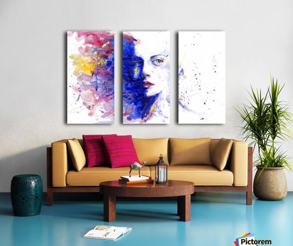 CAREFREE Split Canvas print