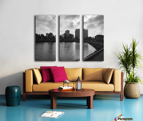 San Diego Marina Split Canvas print
