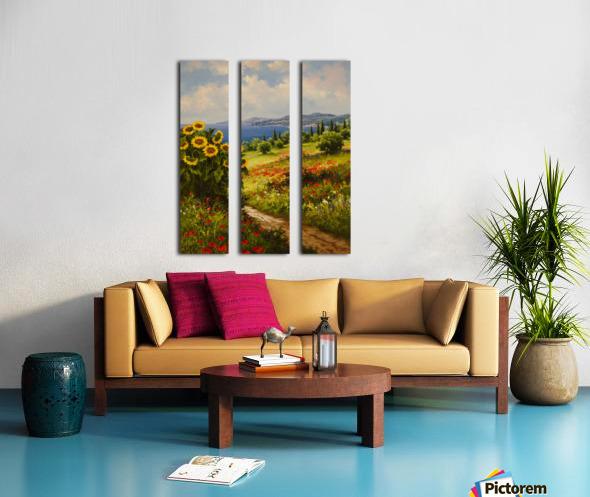 The Sunflower Grove Split Canvas print