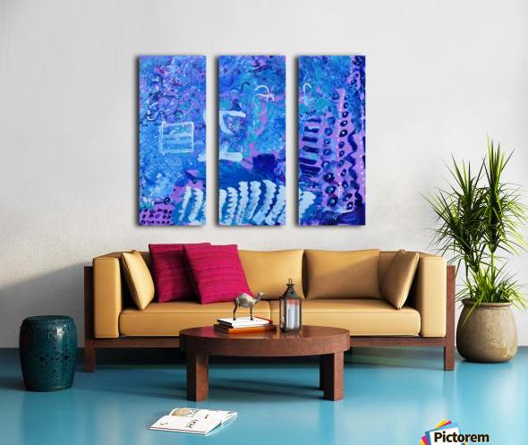 Blue Colab. Arts Education Artist Split Canvas print