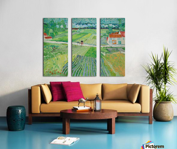 Landscape at Auvers in the Rain -2 by Van Gogh Split Canvas print