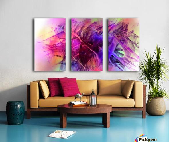 COLORED GLASS Split Canvas print