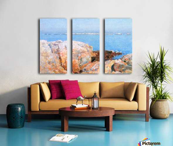 Duck island by Hassam Split Canvas print