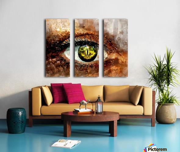 GREEN EYE Split Canvas print