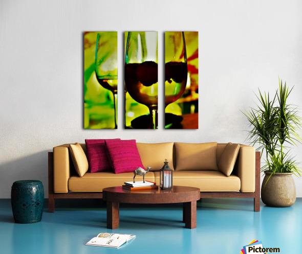winedown Split Canvas print