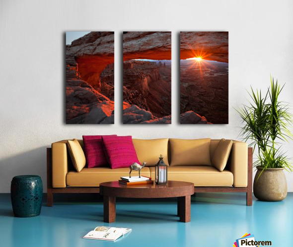 Mesa Arch Sunrise Split Canvas print