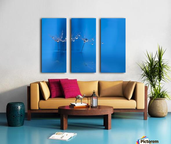 Blue fun Split Canvas print