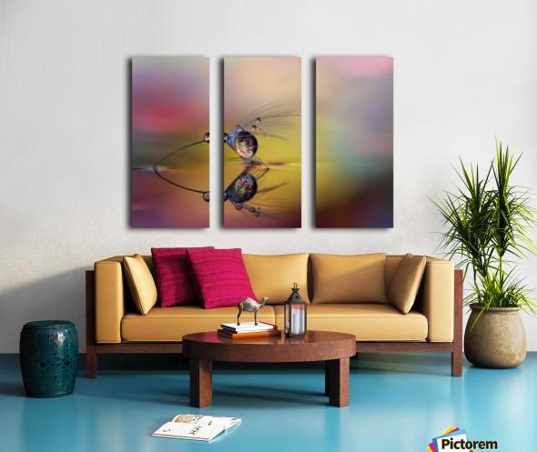 Colorize the darkness Split Canvas print