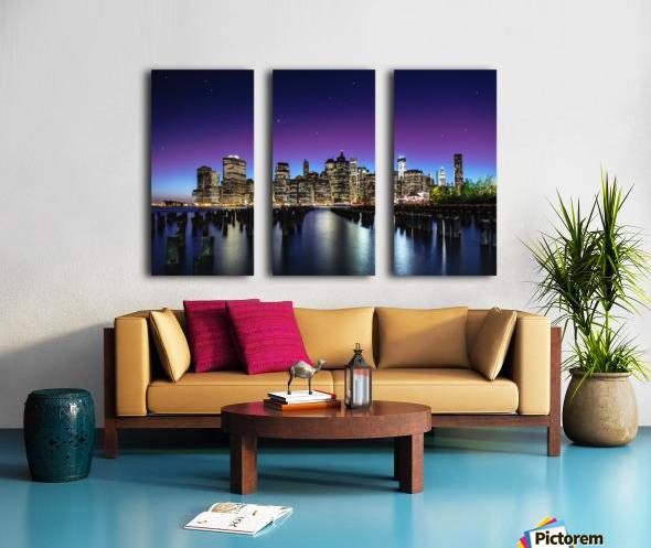 New York Sky Line Split Canvas print