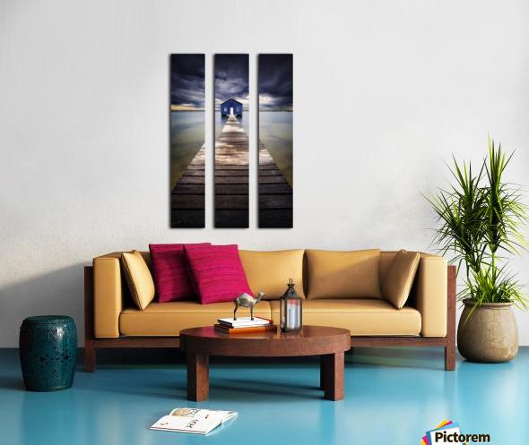 Little Blue Split Canvas print