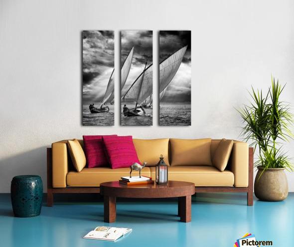 Sailboats and Light Split Canvas print