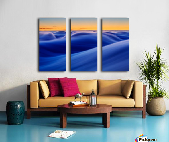 Waves Split Canvas print