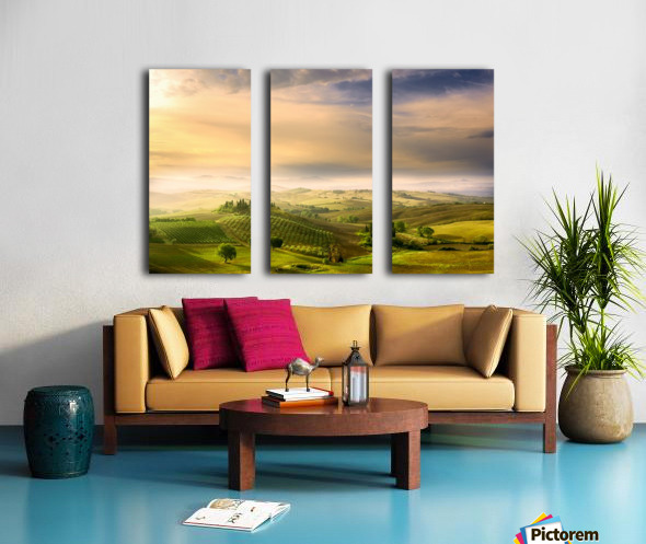 Podere Belvedere's Sunrise Split Canvas print