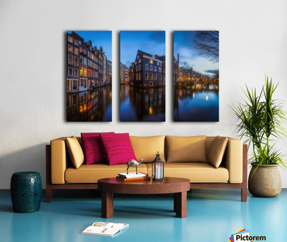 Blue Amsterdam Split Canvas print