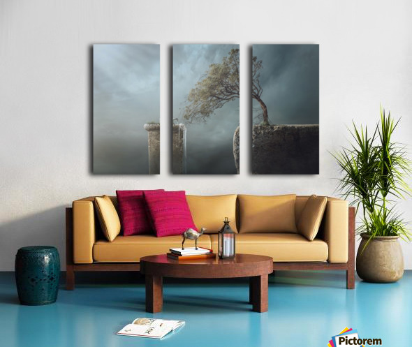 Drink Water Split Canvas print