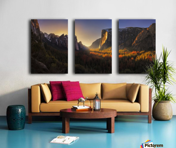 Yosemite Firefall Split Canvas print