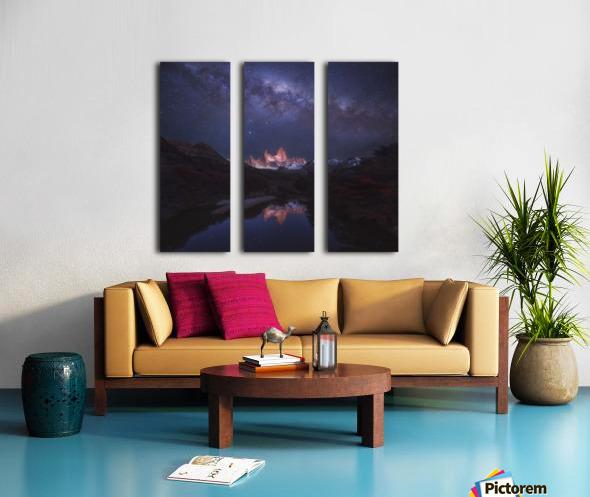 Patagonia Autumn Night Split Canvas print
