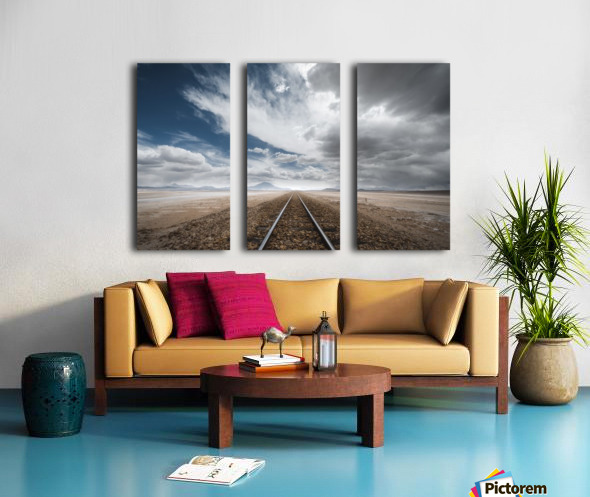 the long road Split Canvas print