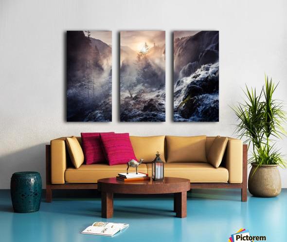 """Jiuzhaigou China a€Še""""a¹»aœa¢ƒa€‹ Split Canvas print"""