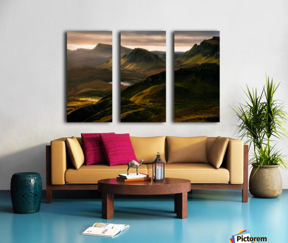 Light and Shadows Split Canvas print