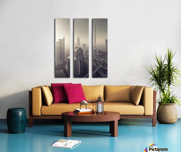 Dissolving Split Canvas print