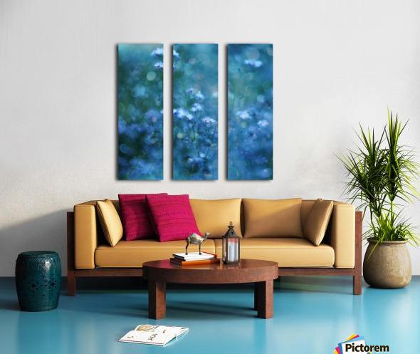 Blue Serenity Split Canvas print