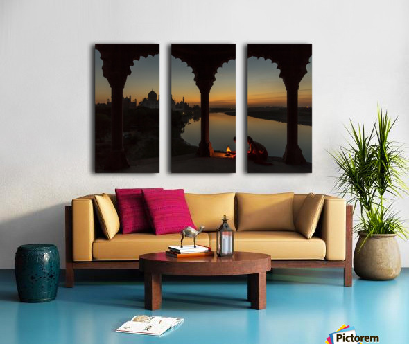 Illuminating the Taj Split Canvas print