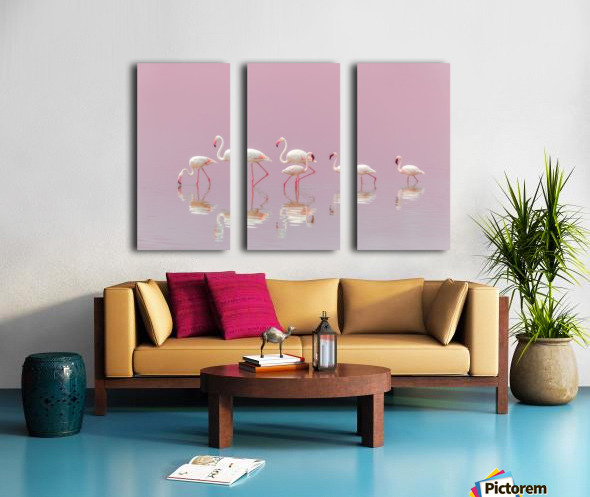 Flamingos Split Canvas print
