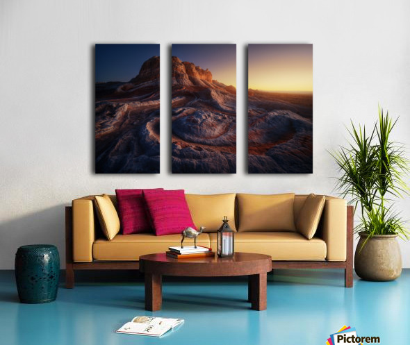 Gold Pocket. Split Canvas print