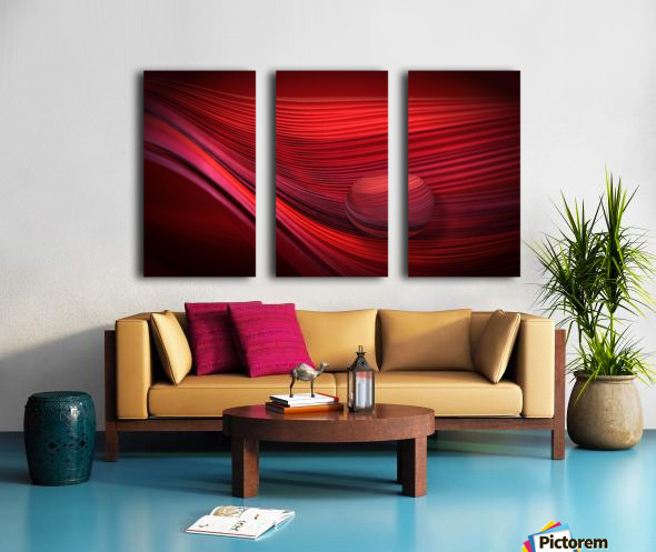 Red Split Canvas print