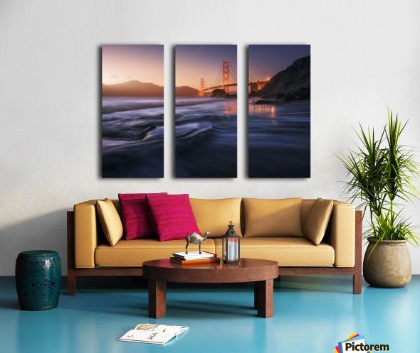 Golden beach Split Canvas print