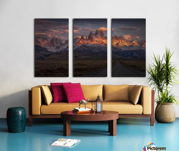 Burning peak Split Canvas print