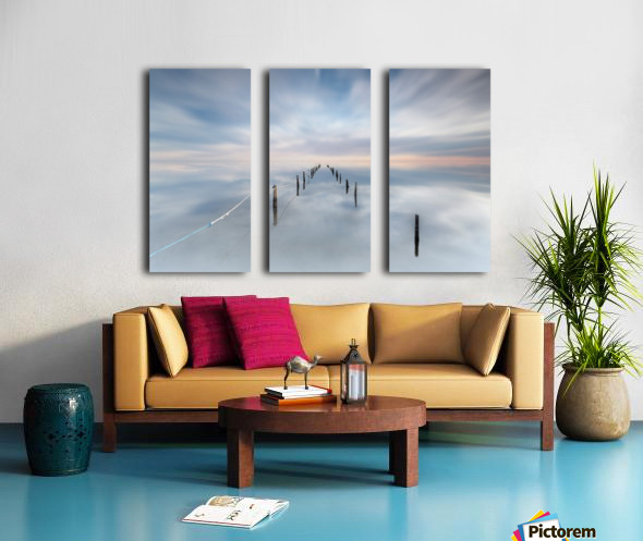 The calm Split Canvas print