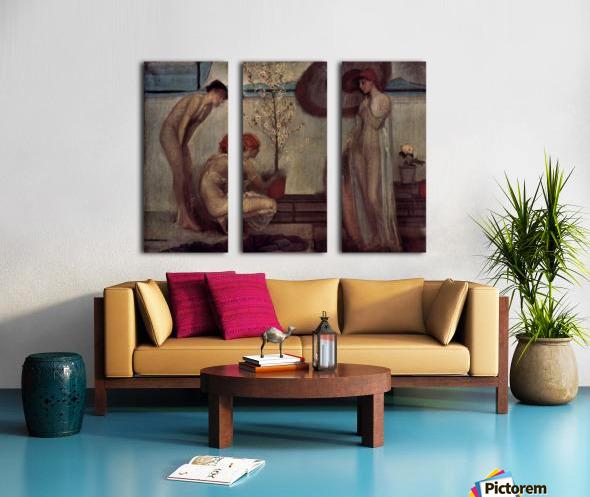 Life angel-1-by Giovanni Segantini Split Canvas print