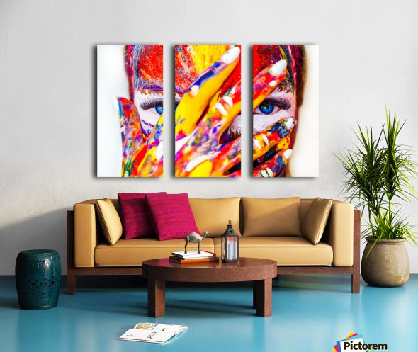 TRIBAL Split Canvas print