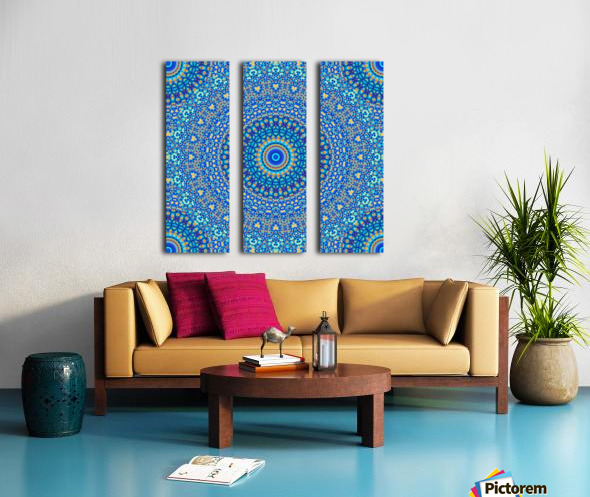 Mandala_5A Split Canvas print
