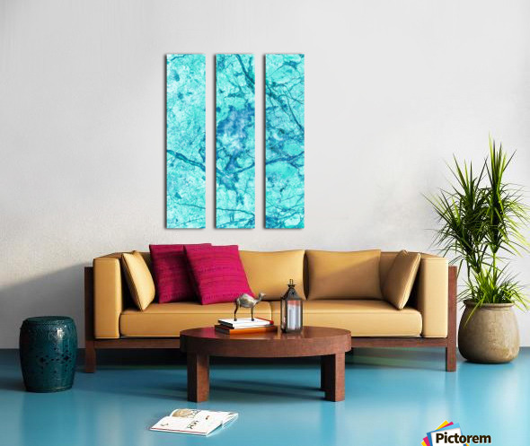 Turquoise Marble Split Canvas print