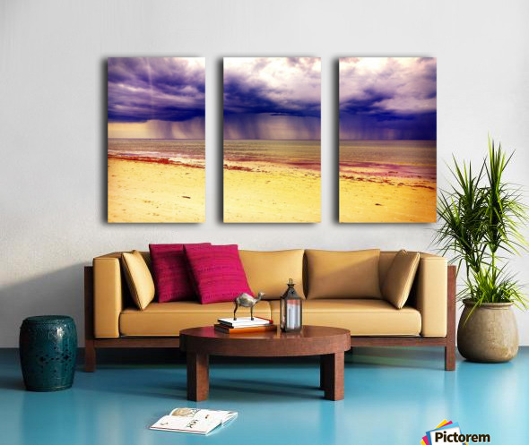 YELLOW BEACH Split Canvas print