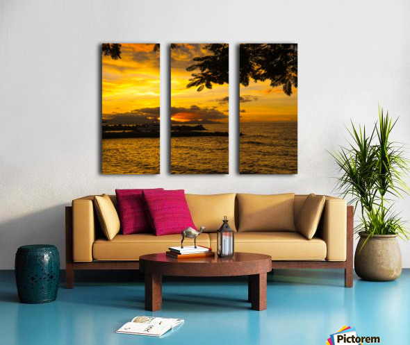 Fire in the sky Split Canvas print