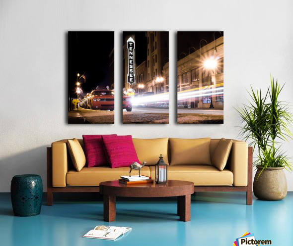 Tennessee Theater Color Split Canvas print