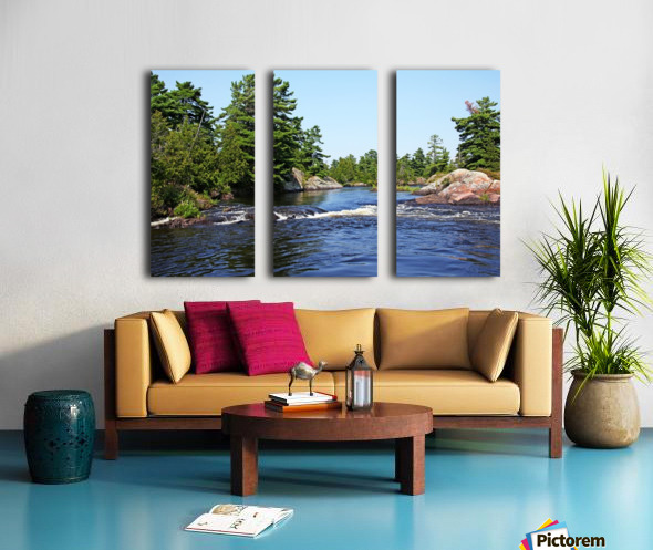 Lovers Rapids Lower French River Split Canvas print