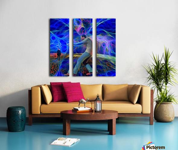 Revealing a Curtain Split Canvas print