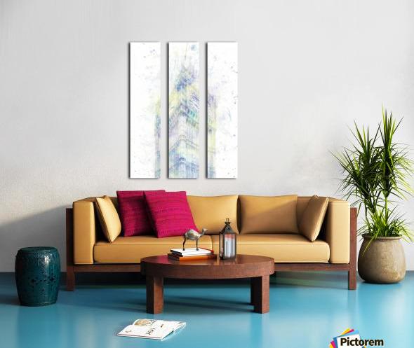 Modern Art BIG BEN | watercolor  Split Canvas print